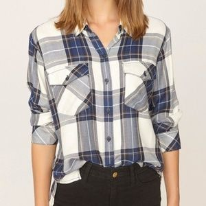 NWOT Sanctuary Plaid Button Up Shirt Medium